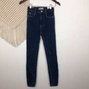 Zara TRF High Rise Skinny Jeans Size 2